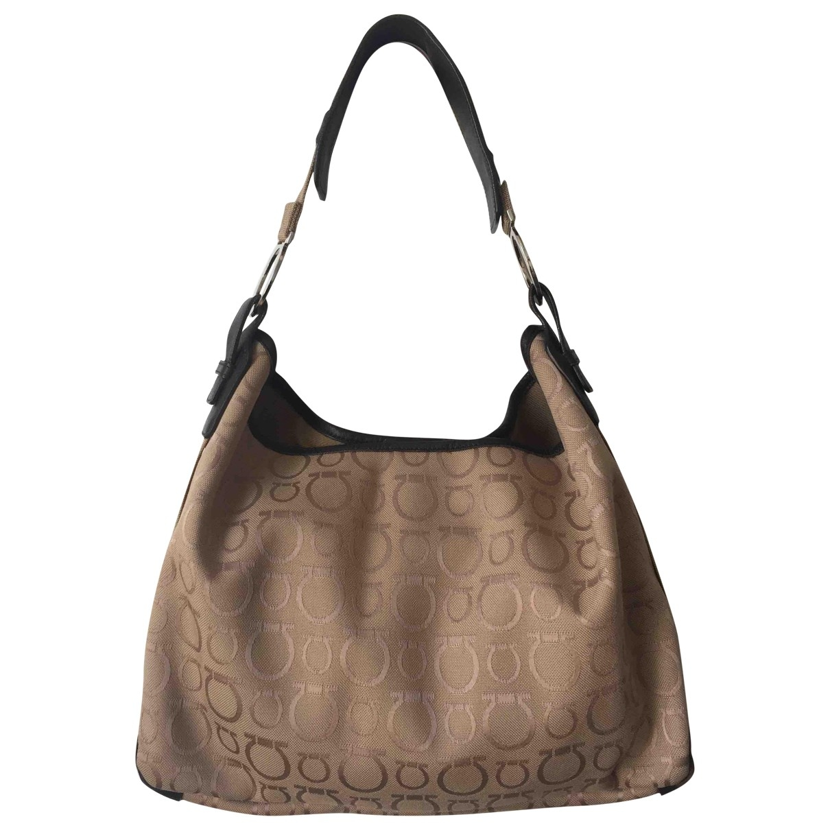 Salvatore Ferragamo \N Beige Cloth handbag for Women \N