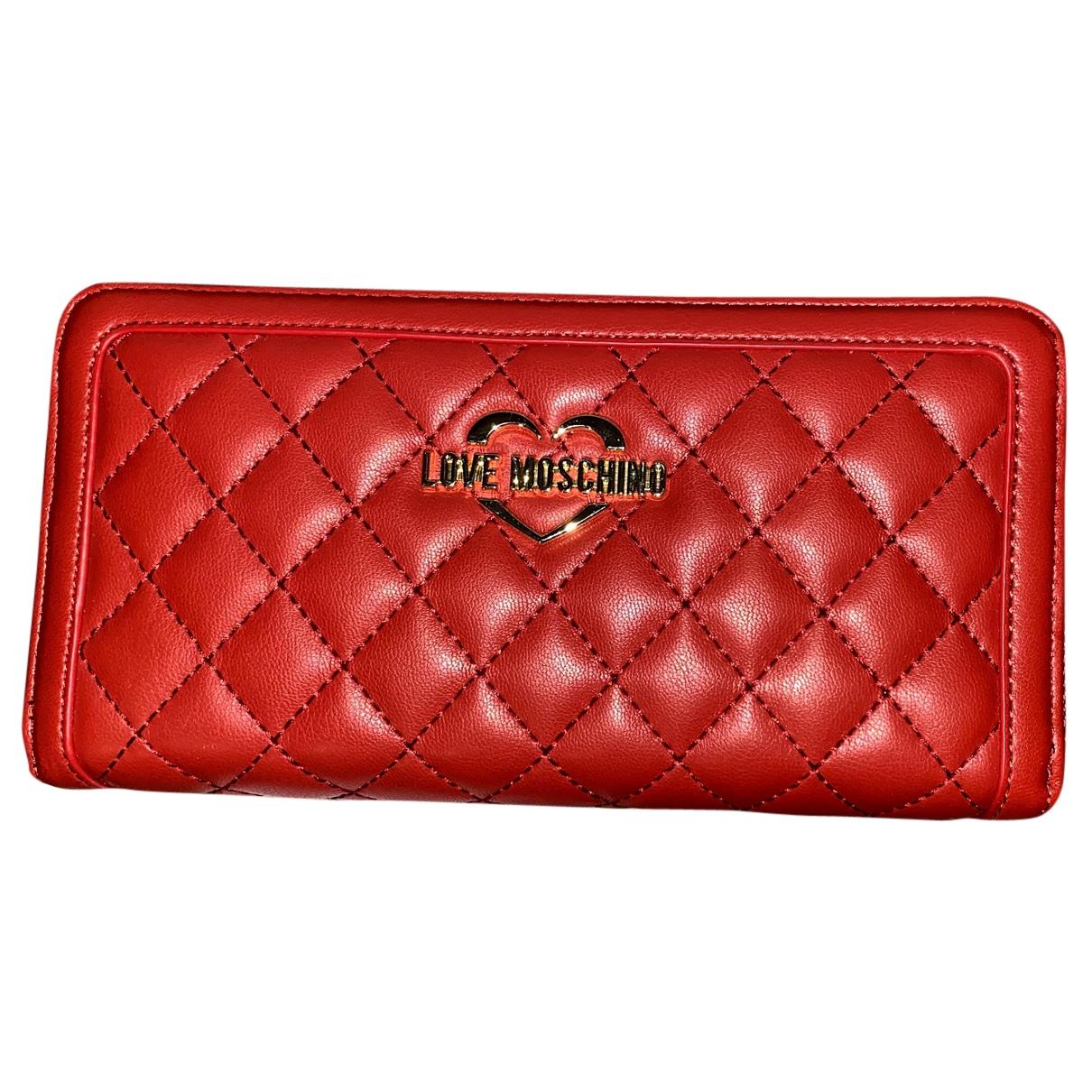 Moschino Love - Portefeuille   pour femme en cuir - rouge