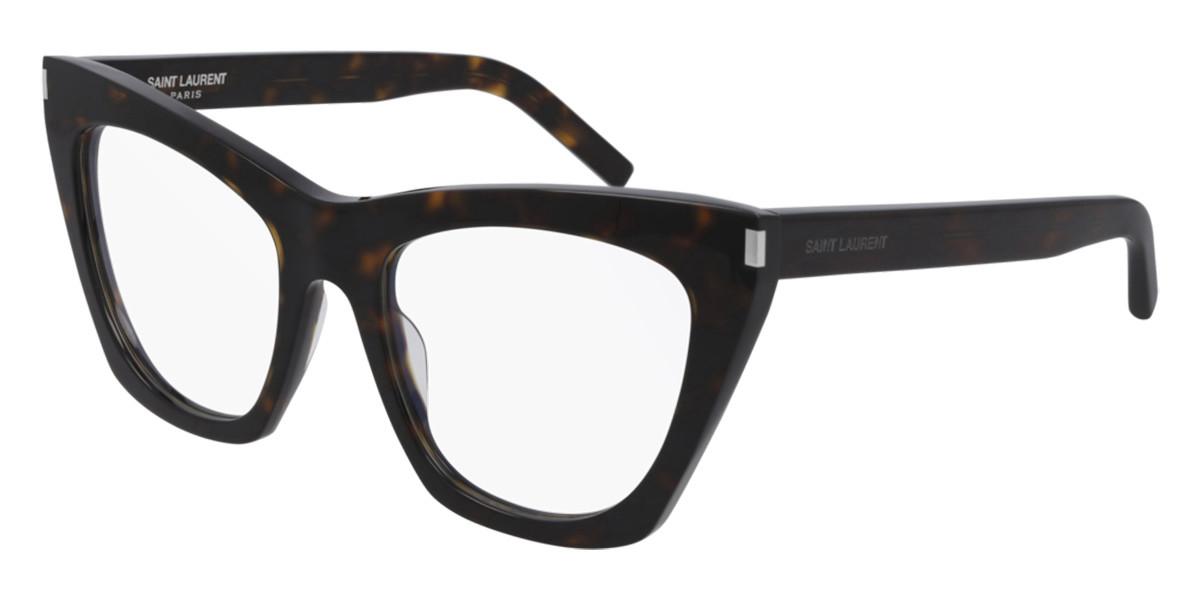 Saint Laurent SL 214 KATE/V 002 Women's Glasses  Size 55 - Free Lenses - HSA/FSA Insurance - Blue Light Block Available