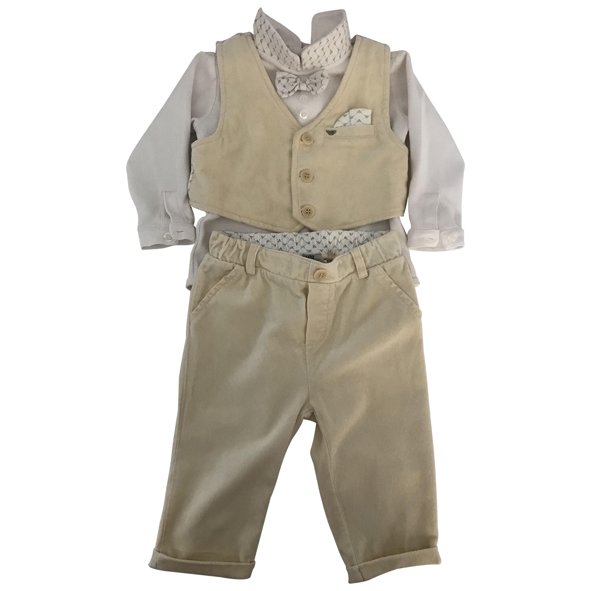 Armani Baby \N Beige Velvet Outfits for Kids 9 months - up to 71cm FR