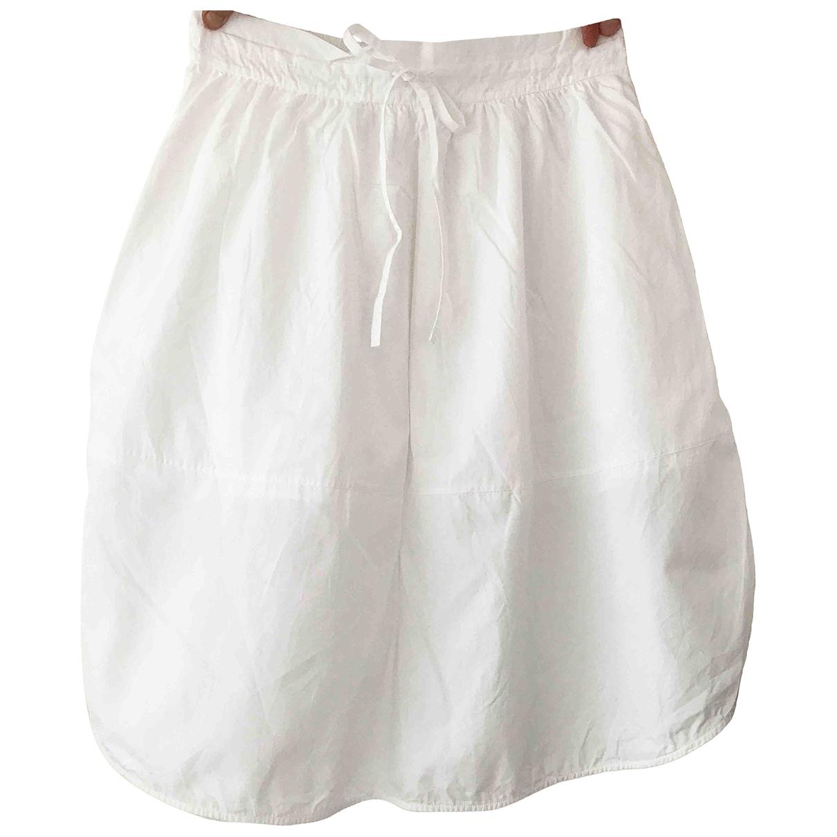 Vince - Jupe   pour femme en coton - blanc