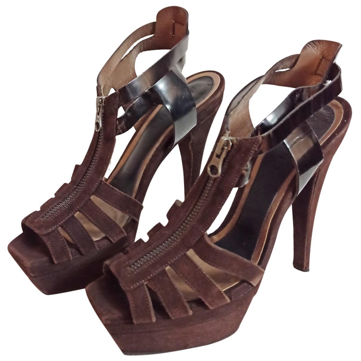 Marni N Brown Suede Sandals for Women 39 EU
