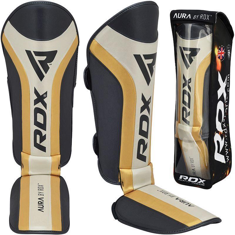 RDX T17 Aura  Protege-Tibias X Grande d'or Cuir PU