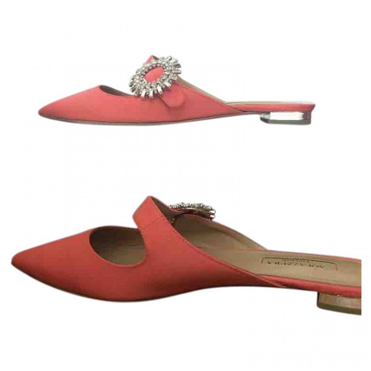 Aquazzura - Sandales   pour femme en toile - rouge