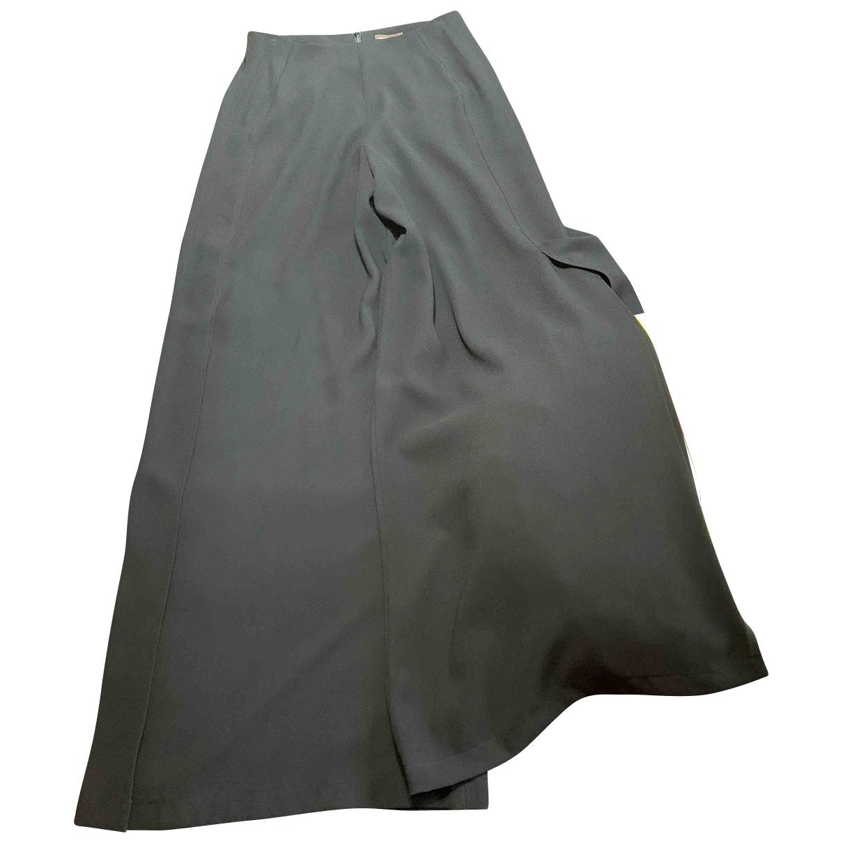 Pantalon en Poliester Negro Adolfo Dominguez
