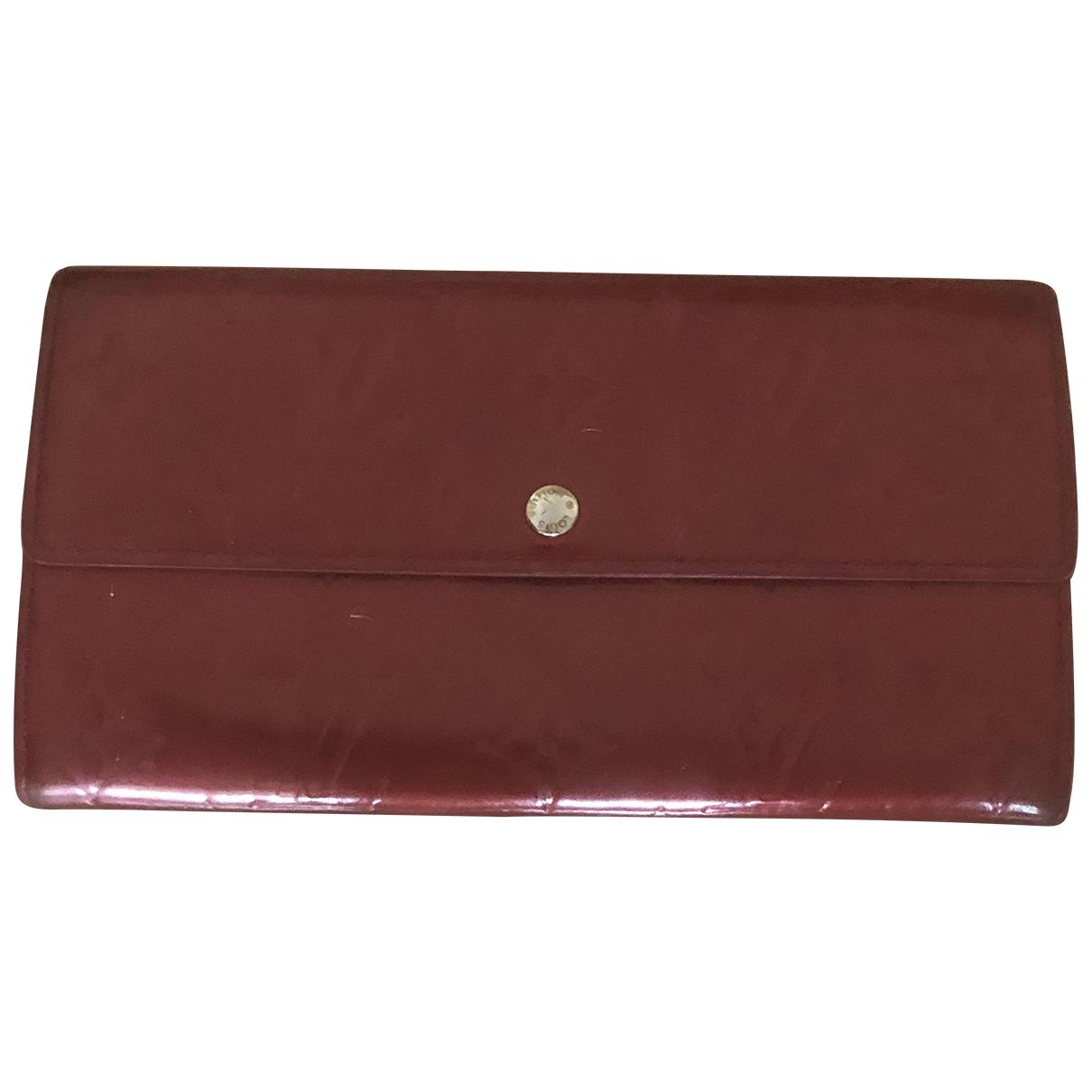 Louis Vuitton - Portefeuille Sarah pour femme en cuir verni - rouge