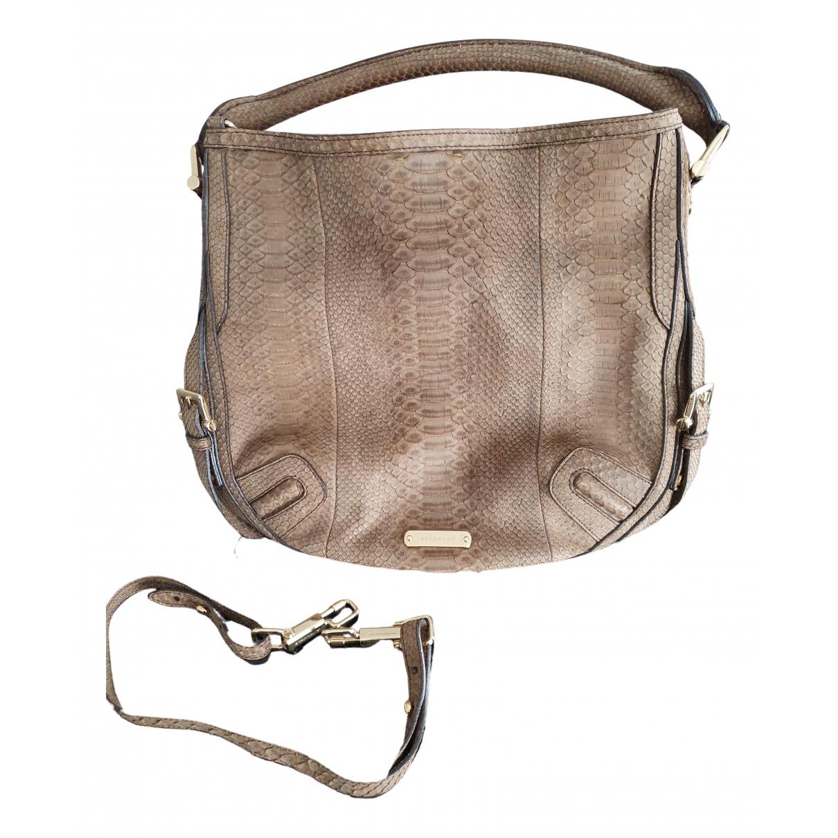 Burberry \N Handtasche in  Braun Aligator