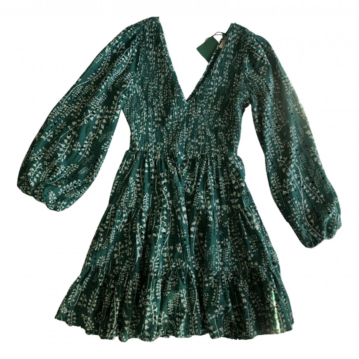 Rixo - Robe   pour femme en coton - vert