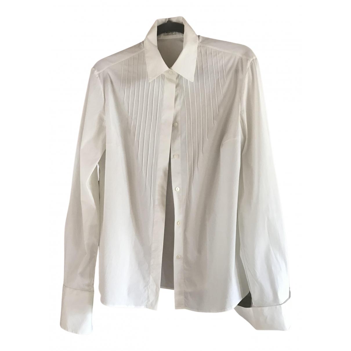 Agnona - Top   pour femme en coton - blanc