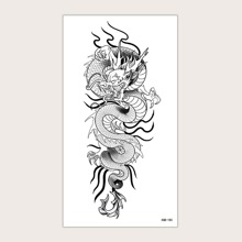 Drachenmuster Tattoo Aufkleber