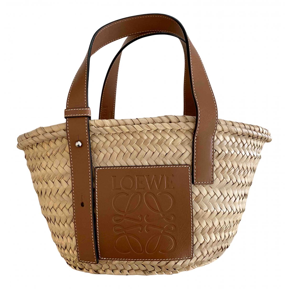 Loewe - Sac a main Basket Bag pour femme en paille - beige