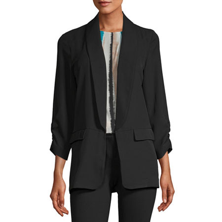 Worthington Womens Soft Unlined Jacket - Tall, Xx-large Tall , Black