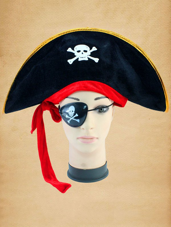 Halloween Cosplay Skull Bone Pirate Hat
