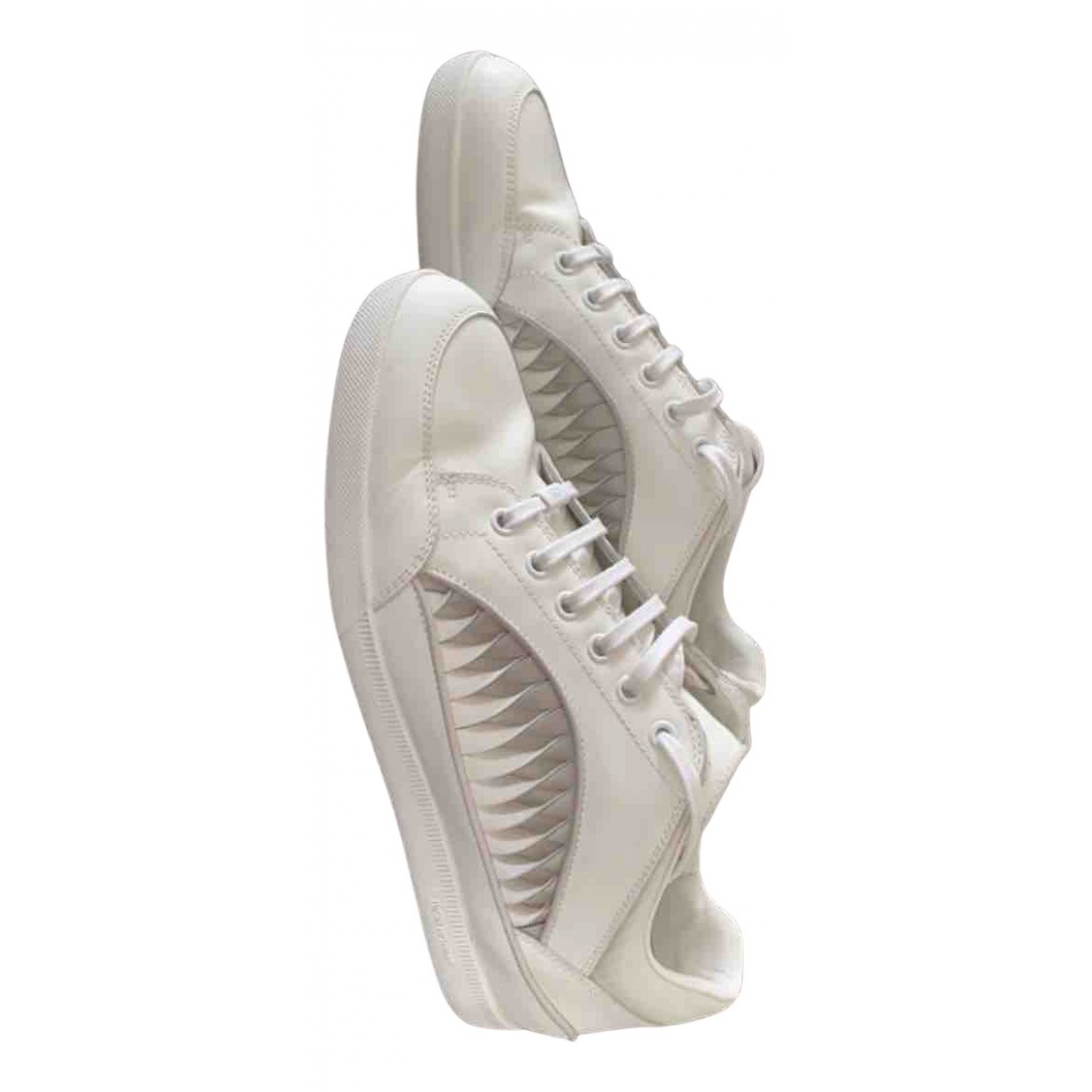 Dior - Baskets   pour homme en cuir - blanc