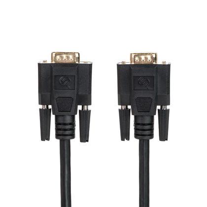 Câble de haute qualité super VGA HD15 M/M avec Double blindage (plaqué or) – 15pi