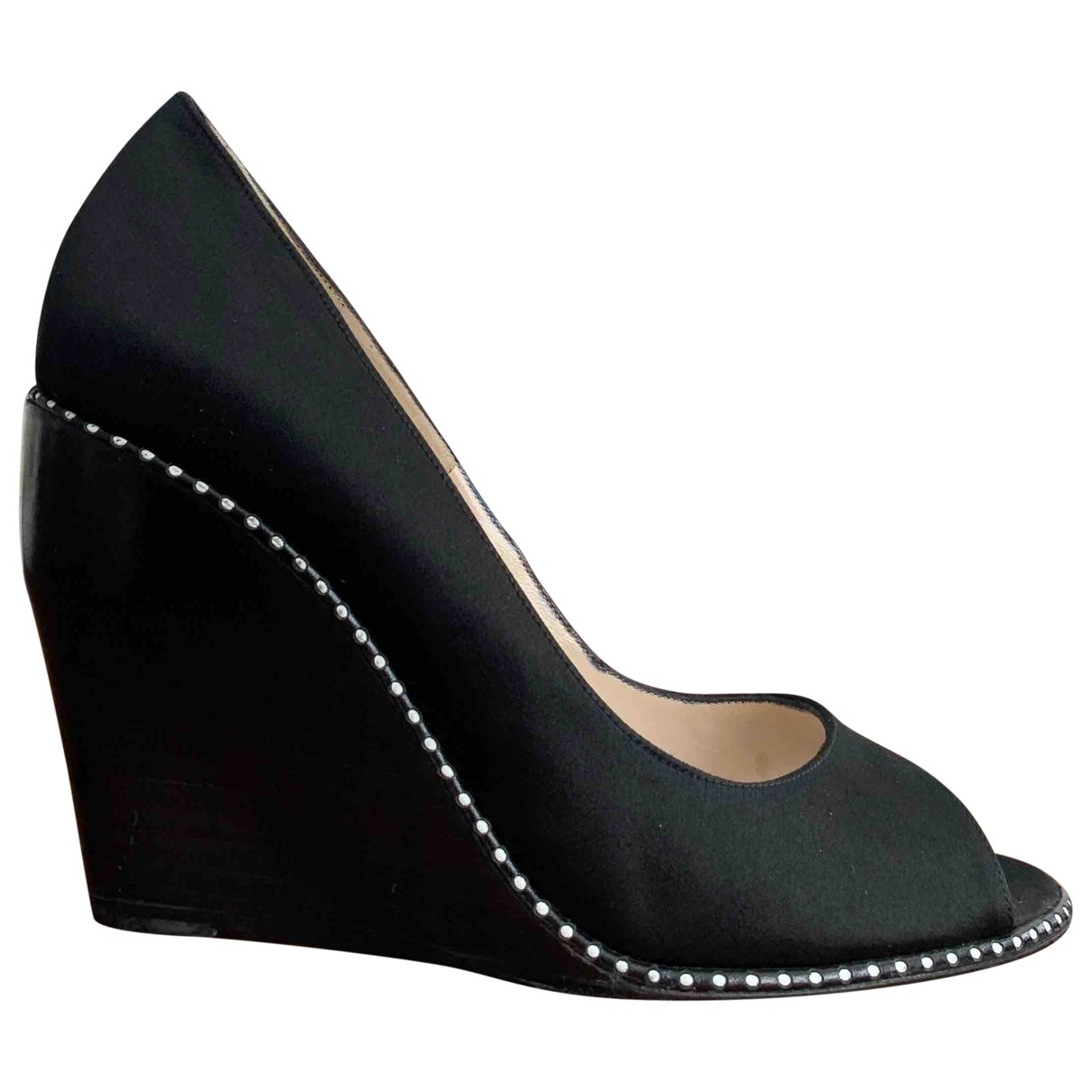Nicholas Kirkwood \N Black Cloth Heels for Women 36.5 EU