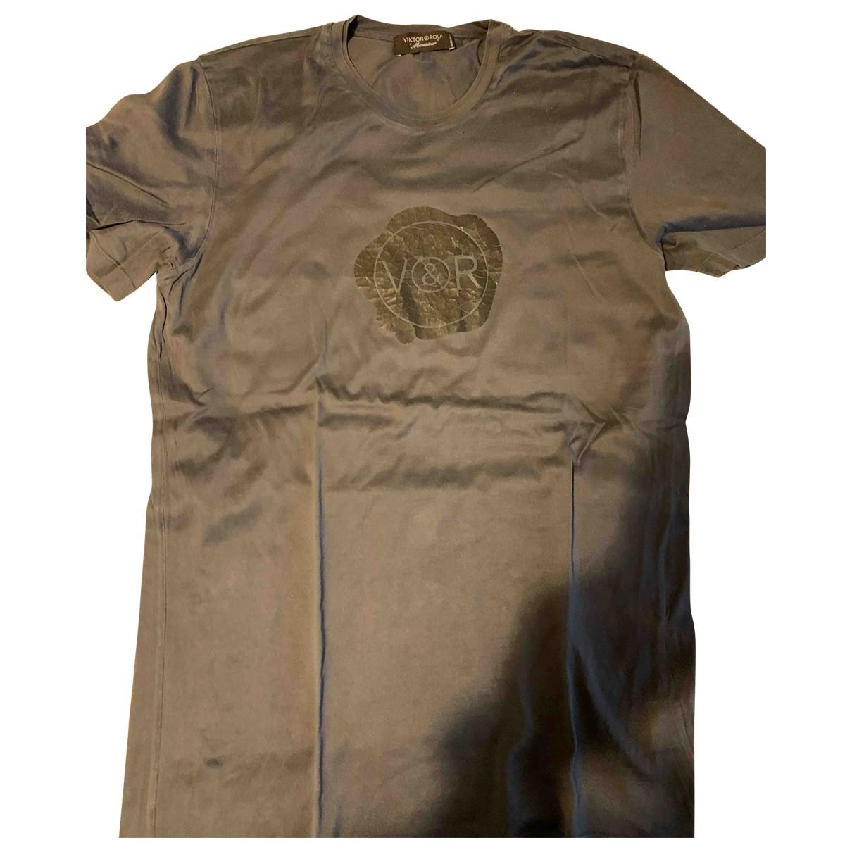Viktor & Rolf - Tee shirts   pour homme en coton - anthracite