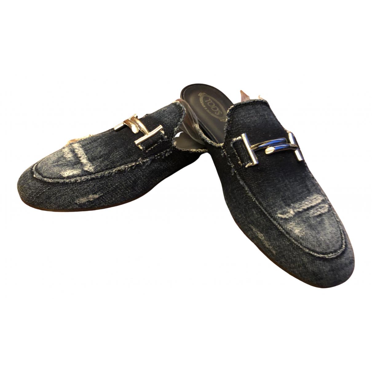 Tods \N Sandalen in  Blau Leinen