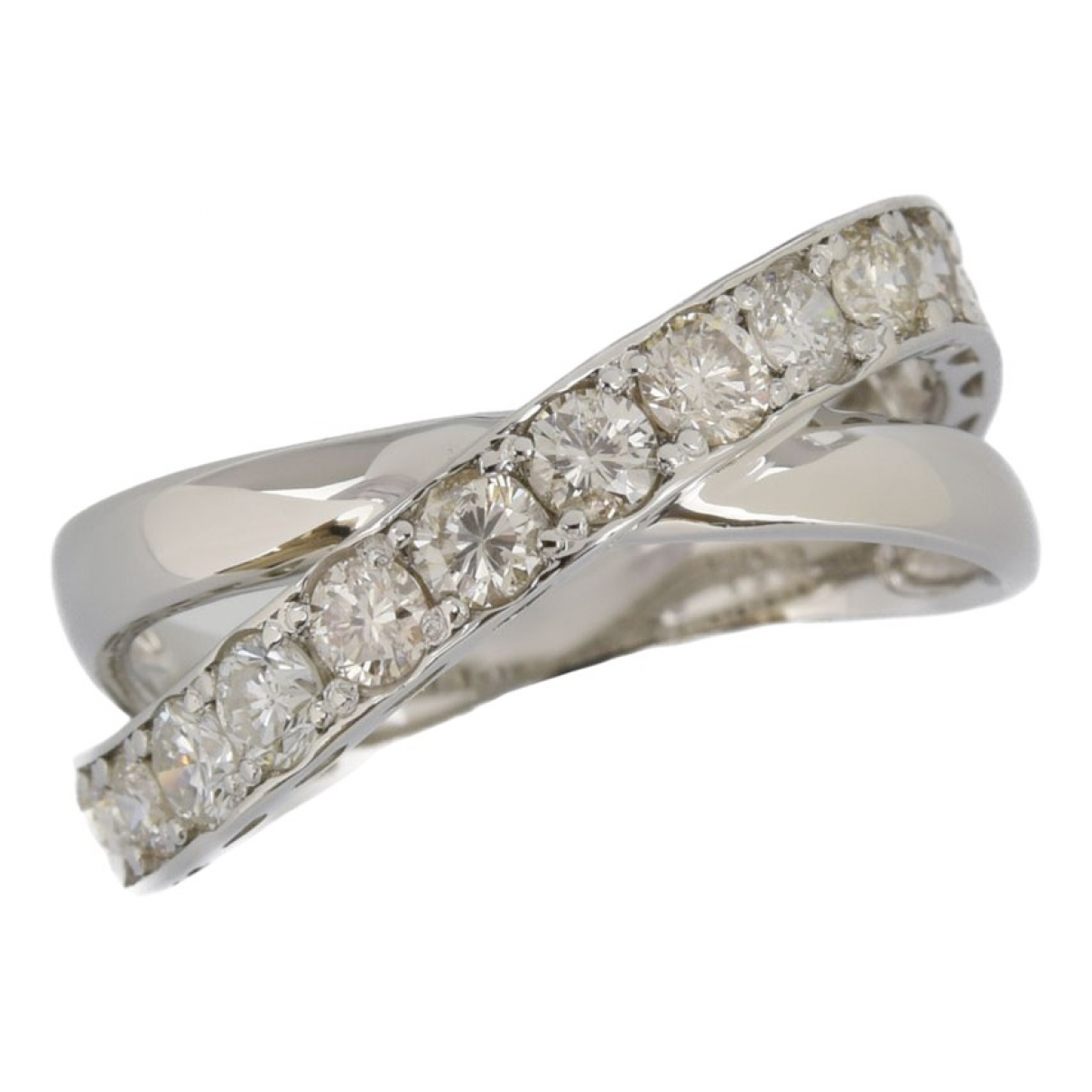 Non Signé / Unsigned \N Platinum ring for Women 52 EU