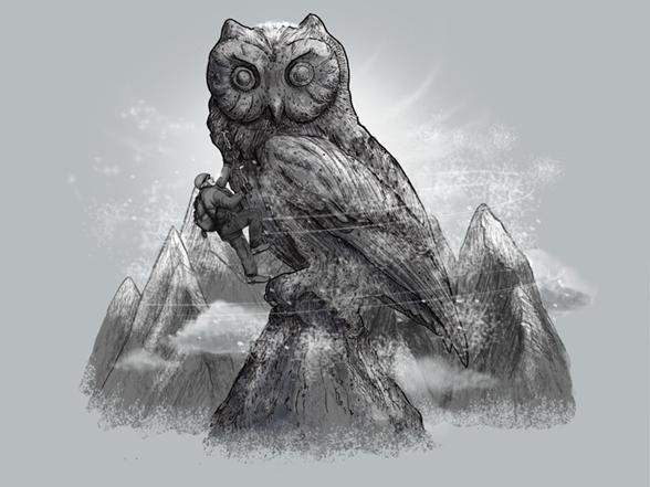 Owl Rock T Shirt