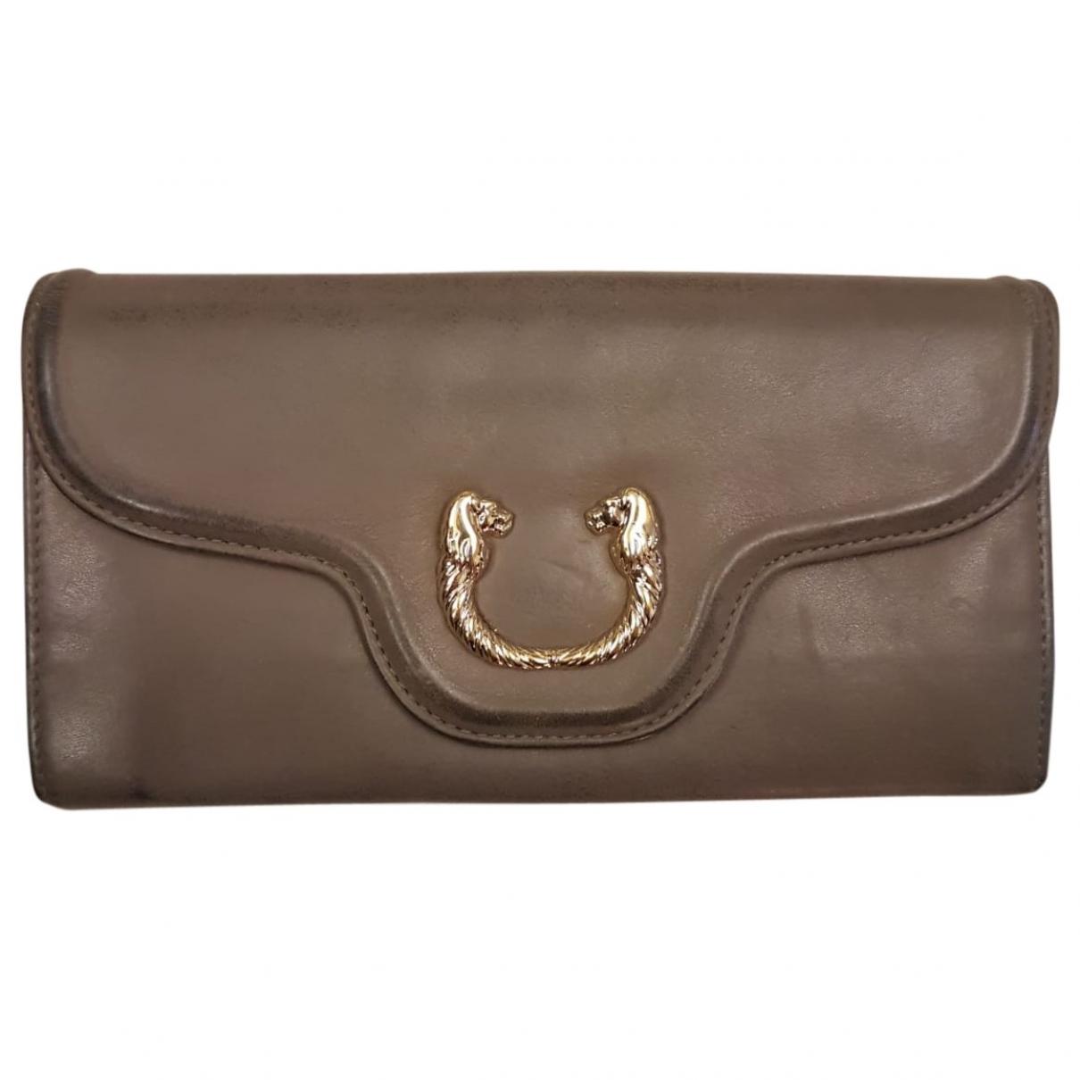 Bvlgari - Portefeuille   pour femme en cuir - gris