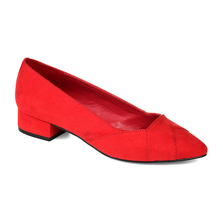 Journee Collection Womens Justine Pointed Toe Slip-on Loafers, 12 Medium, Red