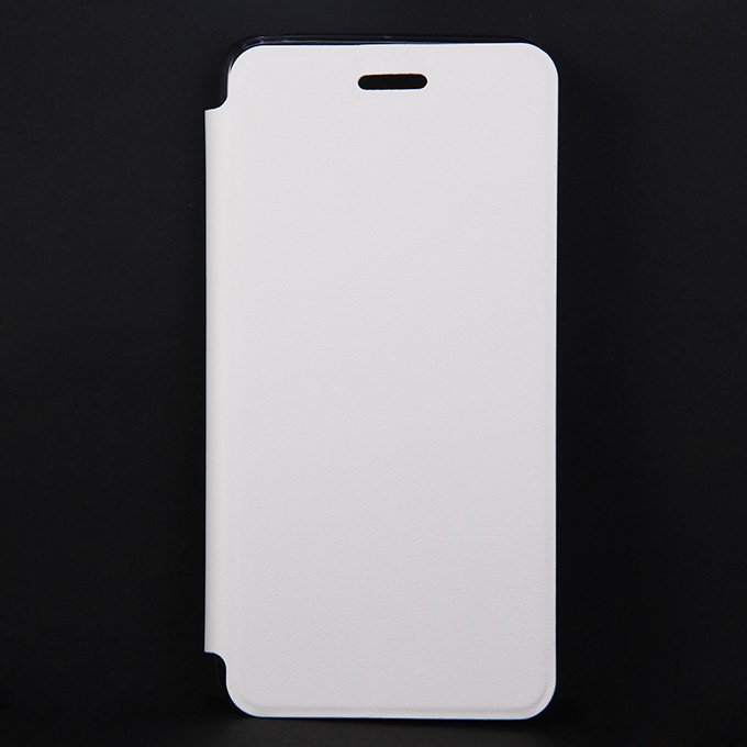 Protective Cover Flip Stand Leather Case for Lenovo S90 High Quality - White