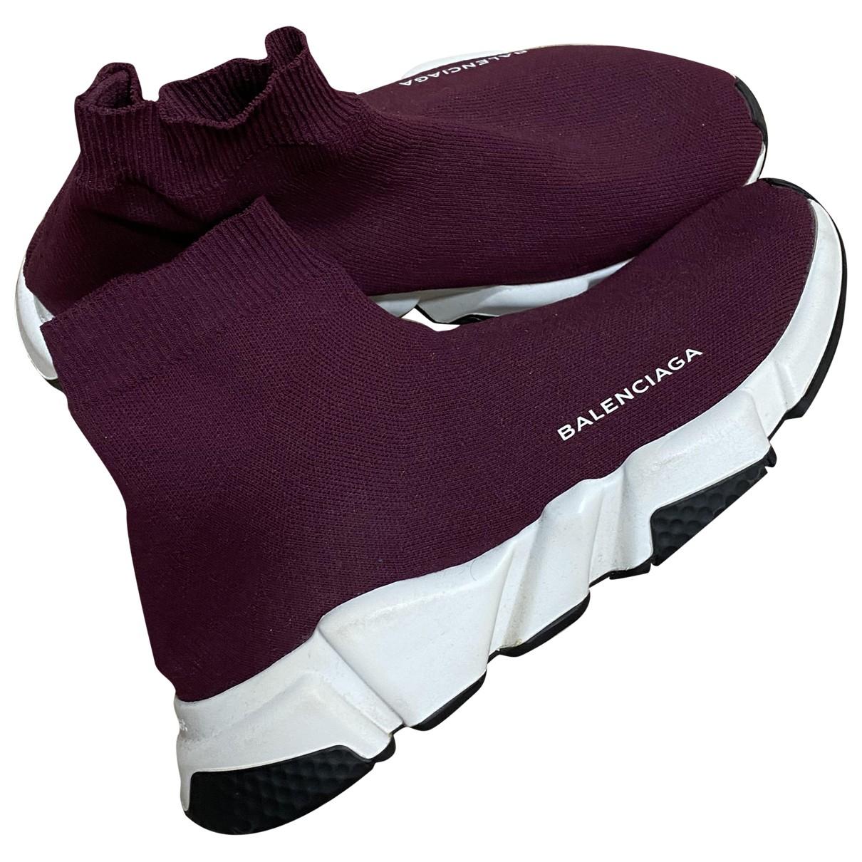 Balenciaga - Baskets Speed pour femme en toile - bordeaux