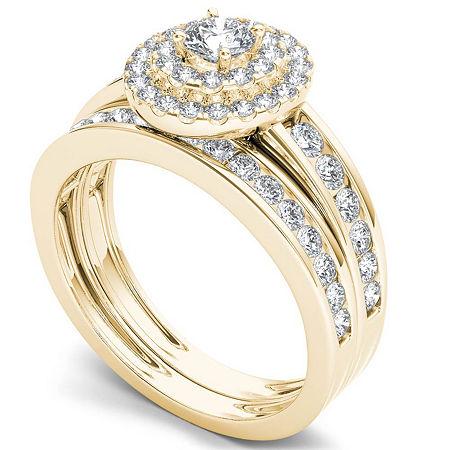 Womens 1 CT. T.W. Genuine White Diamond 10K Gold Bridal Set, 6 , No Color Family