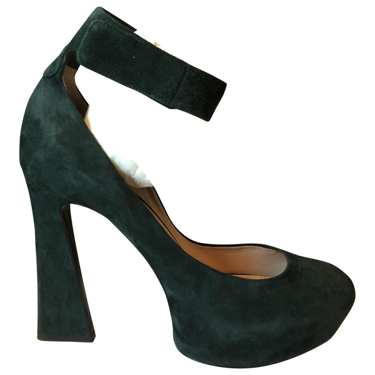 Celine - Escarpins   pour femme en suede - vert