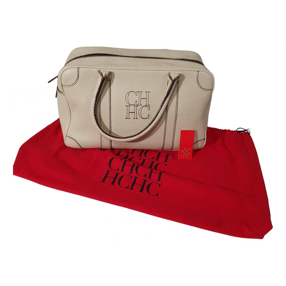 Carolina Herrera \N Handtasche in  Ecru Leder