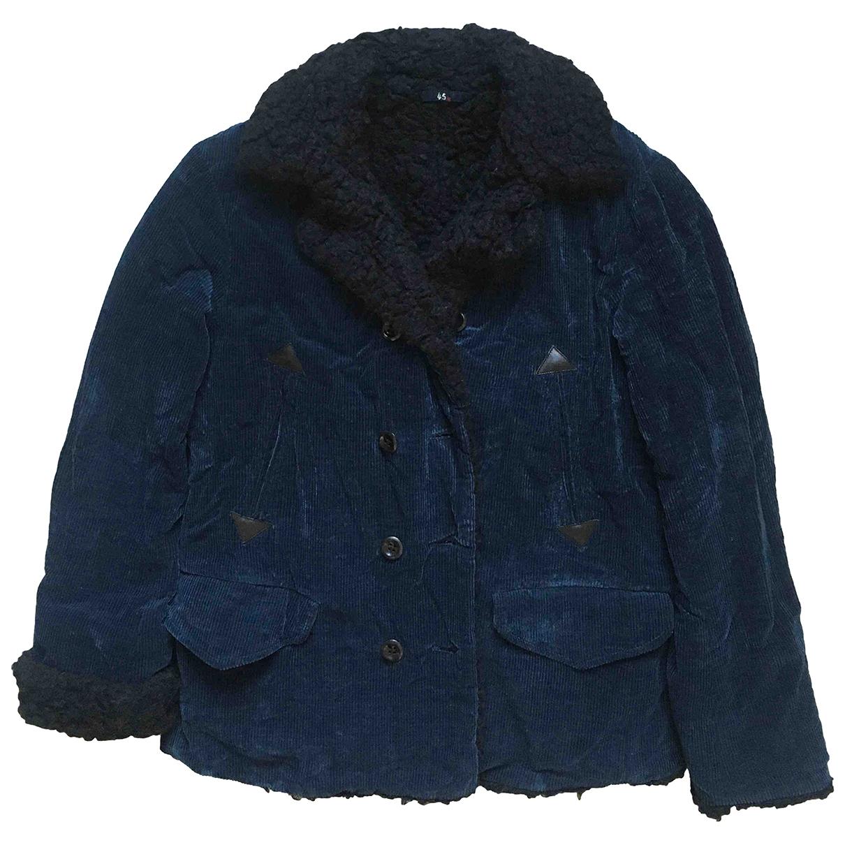R By 45 Rpm - Manteau   pour homme en coton - marine