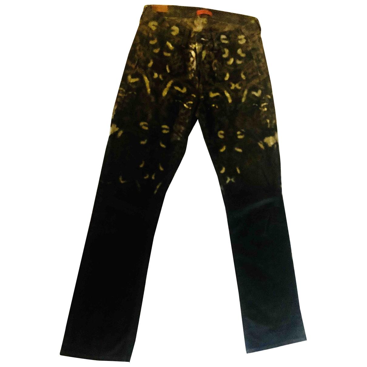 Romeo Gigli - Pantalon   pour femme en denim - noir