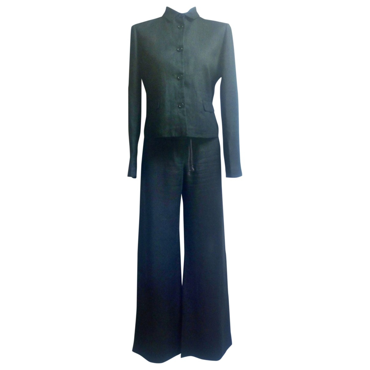 Aspesi - Veste   pour femme en lin - noir