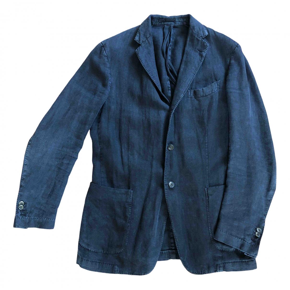 Boglioli N Black Linen jacket  for Men 50 IT