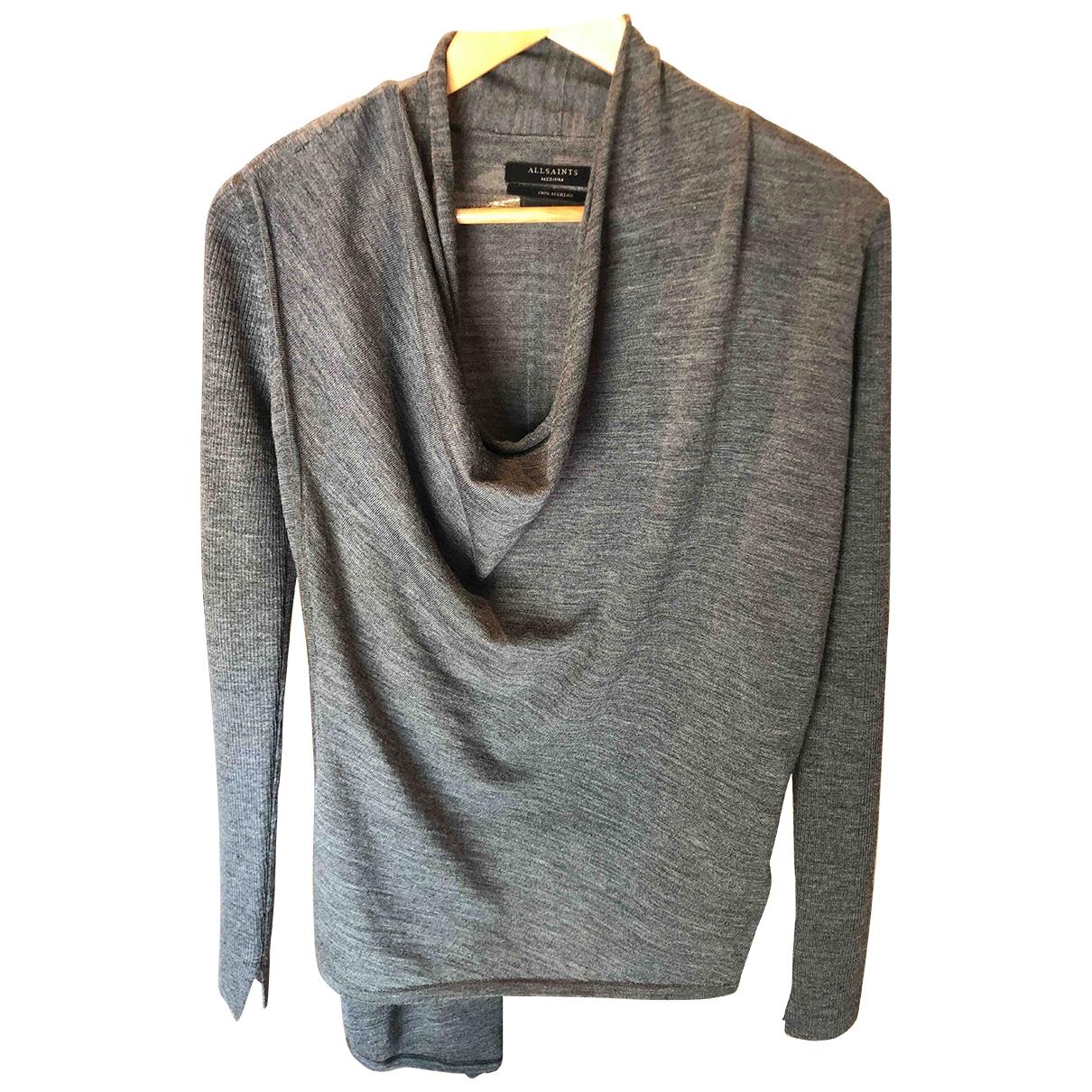 All Saints - Pull   pour femme en laine - gris