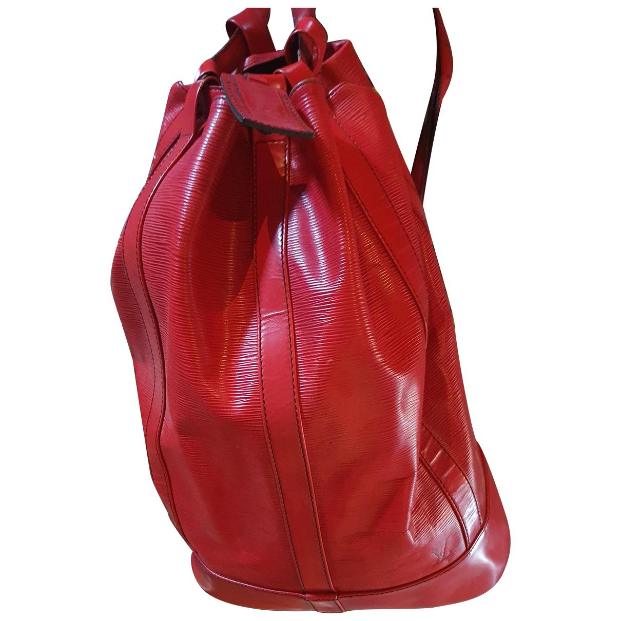 Louis Vuitton Randonnee Rucksaecke in  Rot Leder