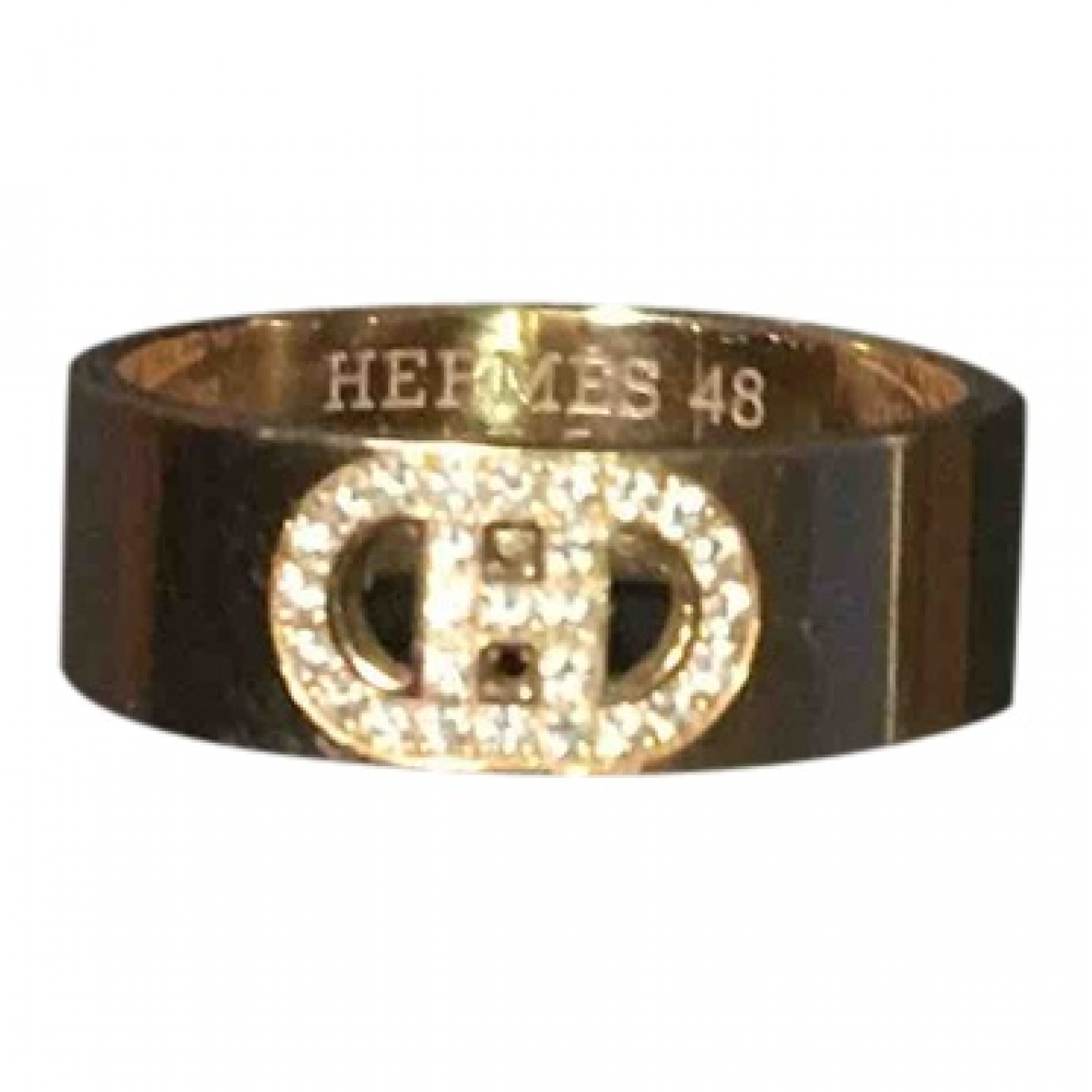 Hermes H dAncre Ring in  Gold Rosegold
