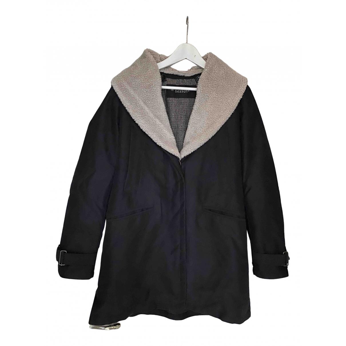 Sessun N Black Wool coat for Women L International