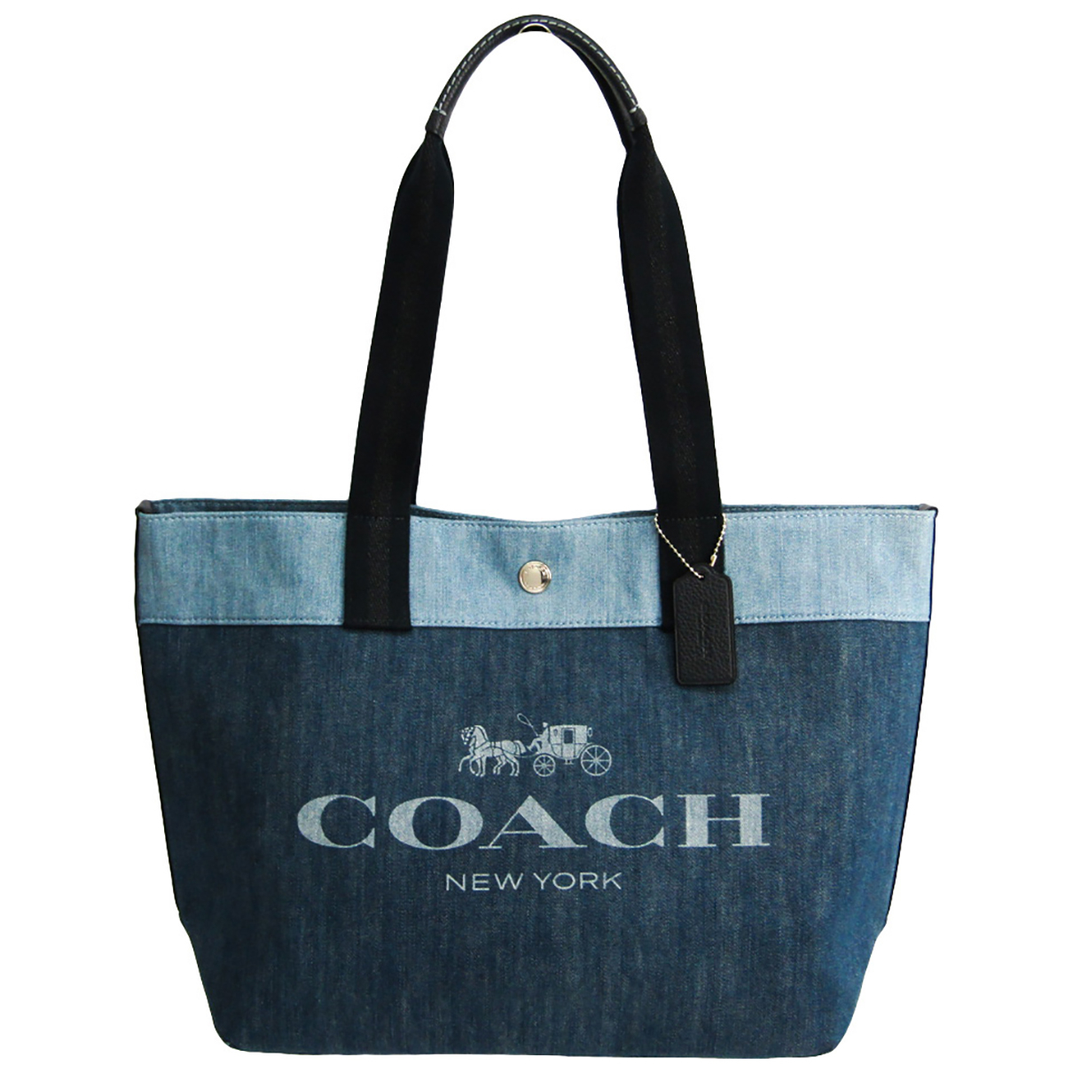 Coach - Sac a main   pour femme en denim - bleu