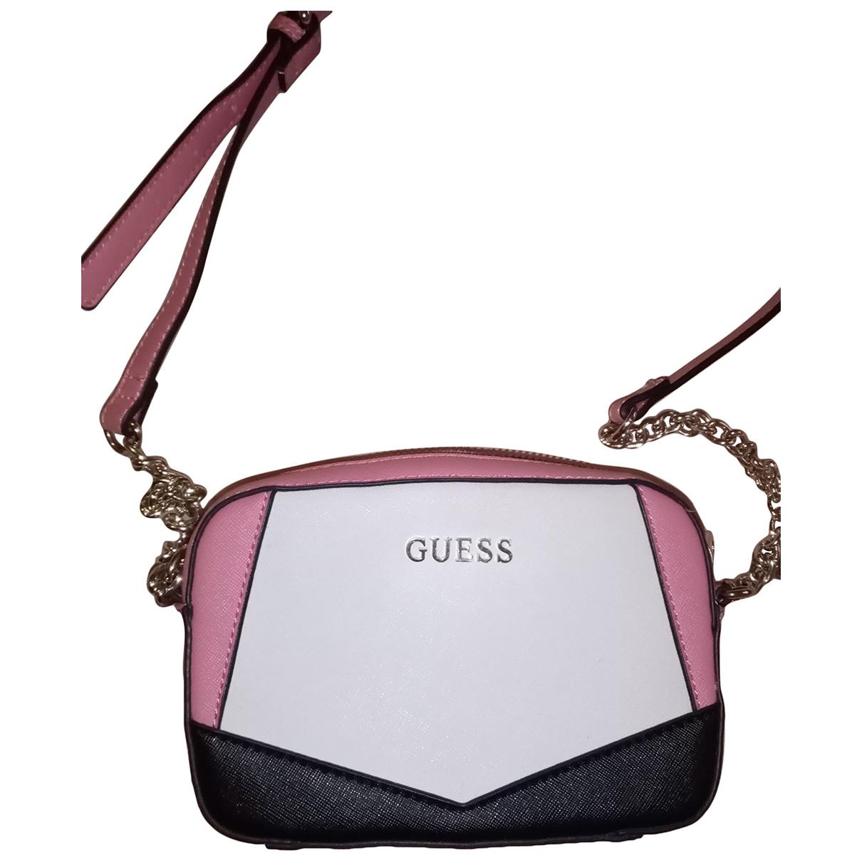 Guess \N Handtasche in  Rosa Leder