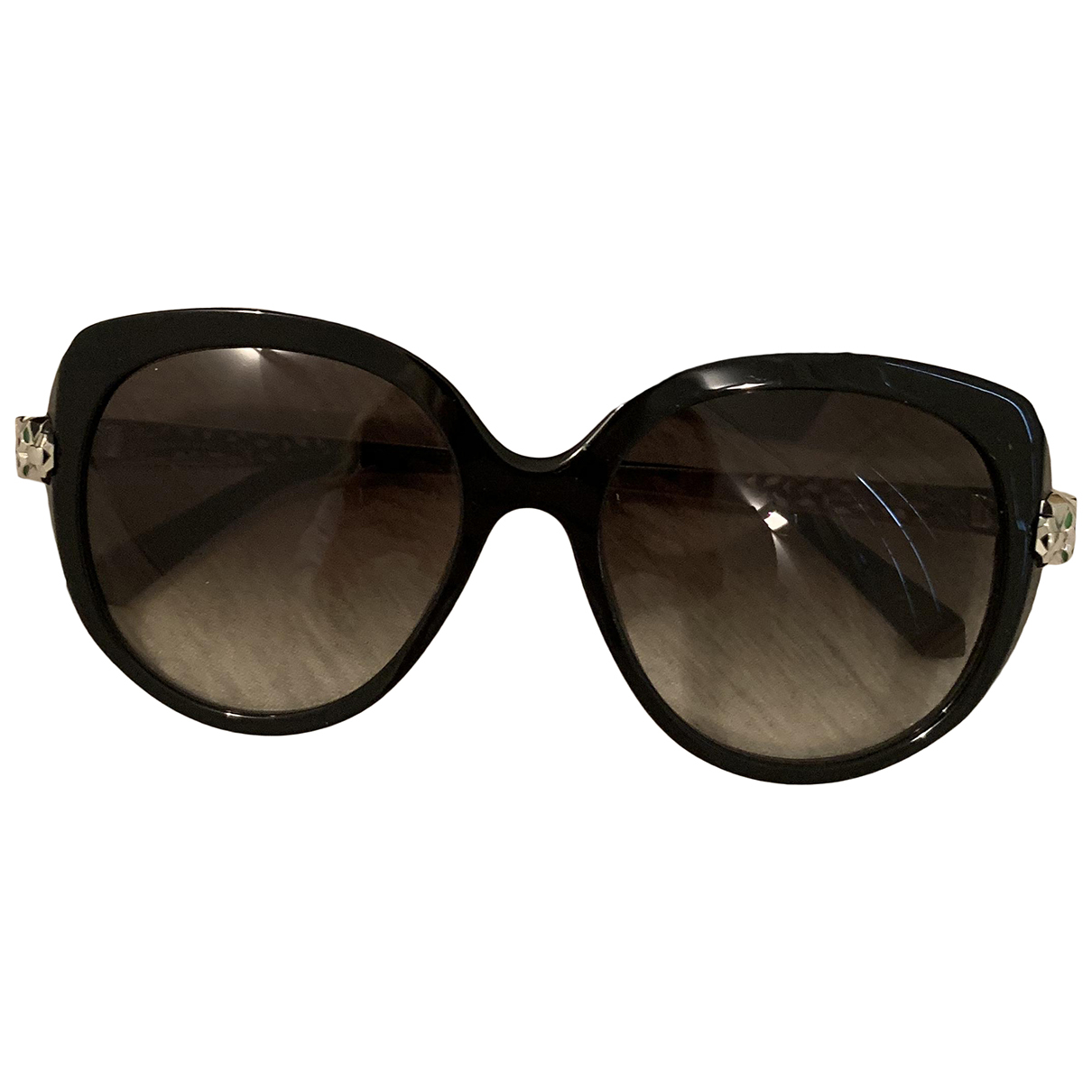 Cartier N Black Metal Sunglasses for Women N