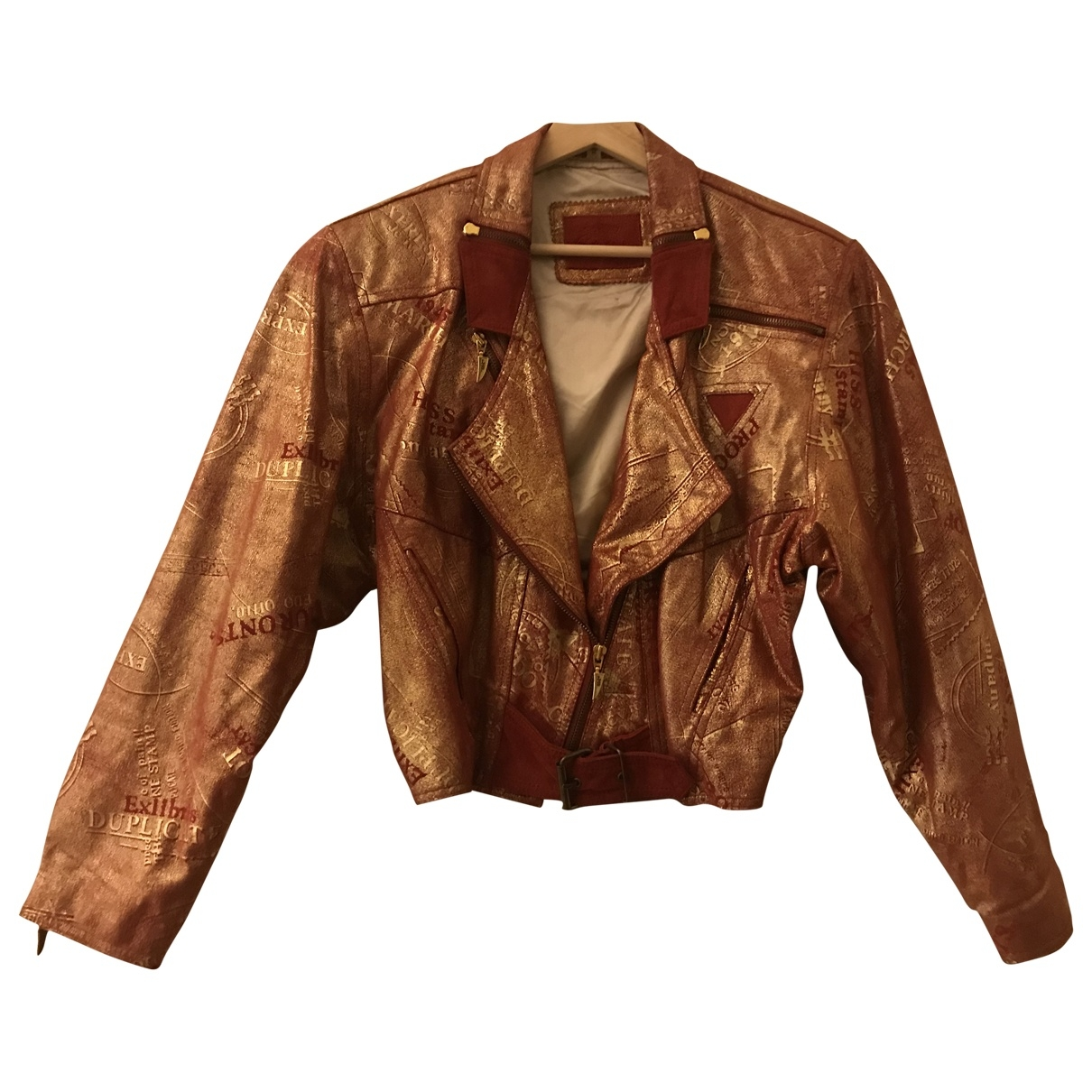 Non Signé / Unsigned \N Multicolour Suede Leather jacket for Women L International