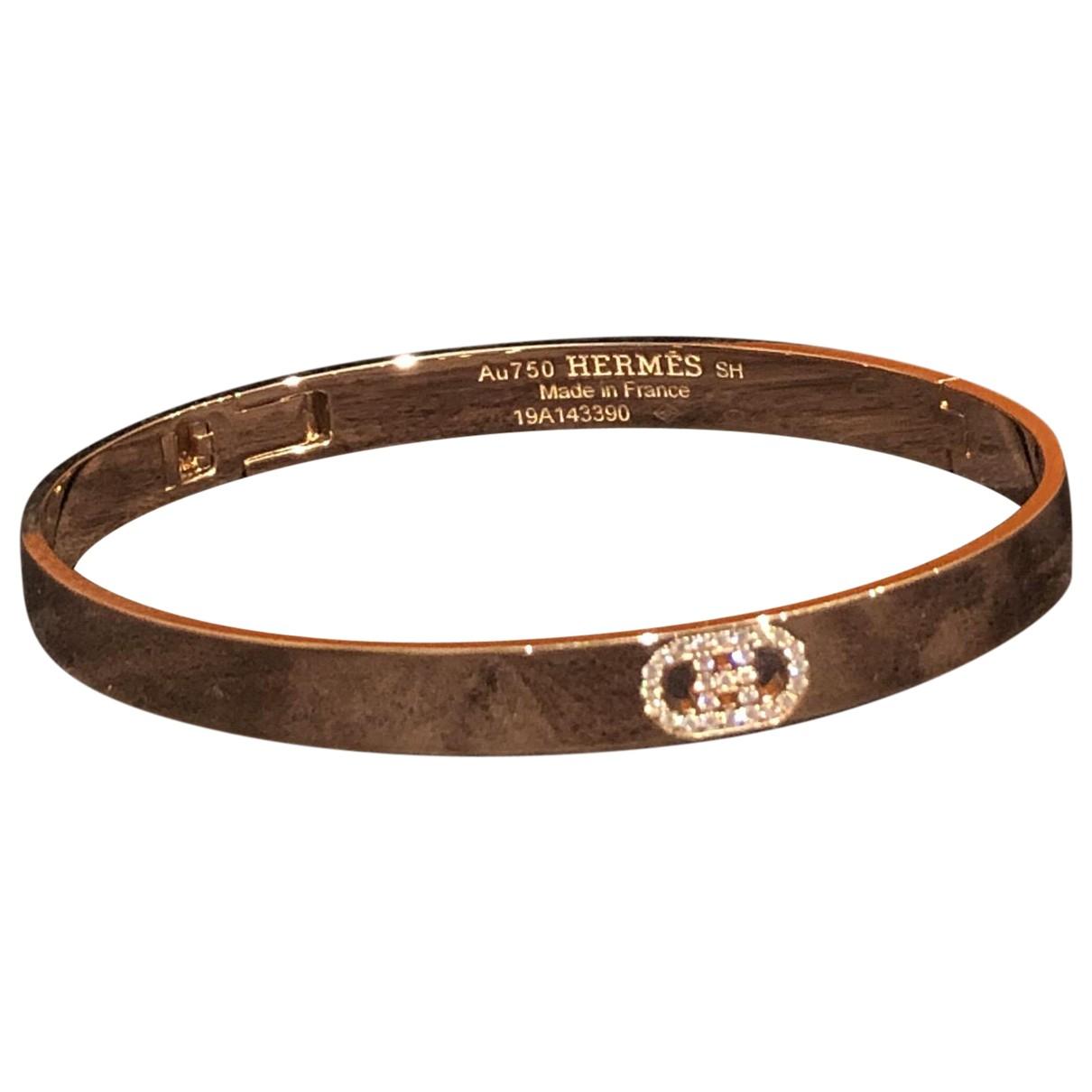 Hermes H dAncre Armband in  Gold Rosegold