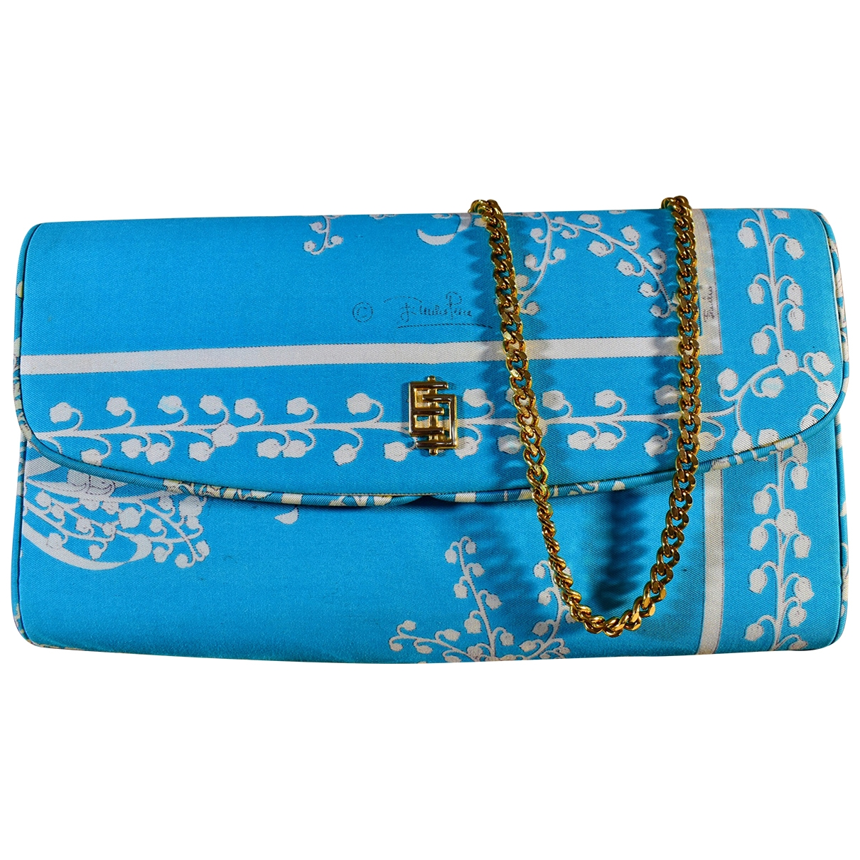 Emilio Pucci \N Blue Silk handbag for Women \N