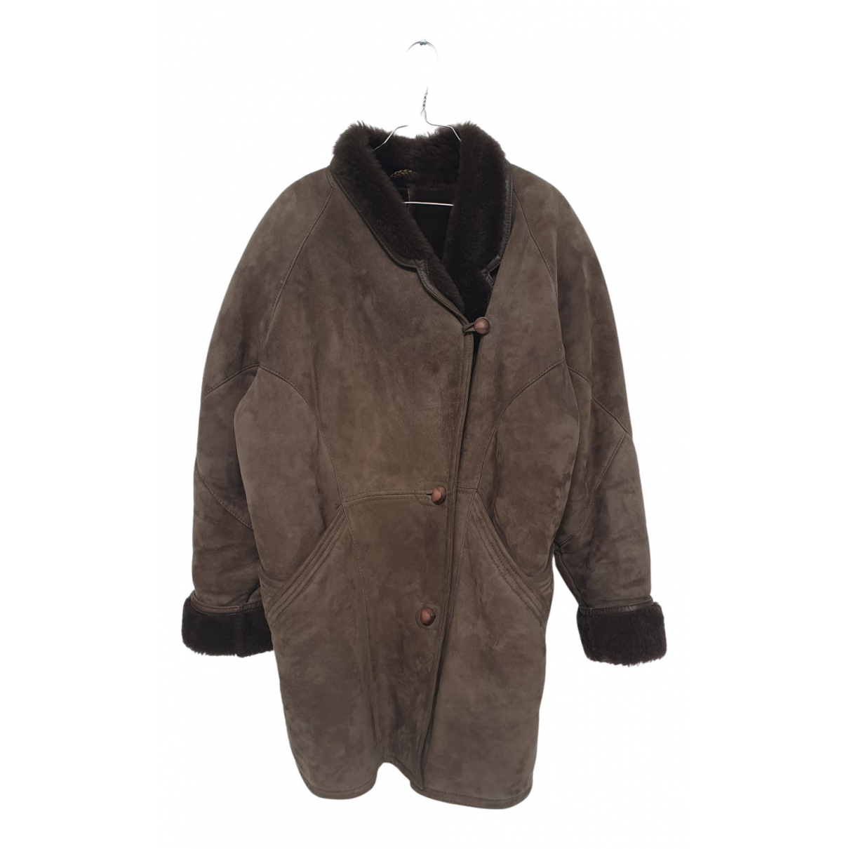 Shearling N Leather Leather jacket for Women 46 IT
