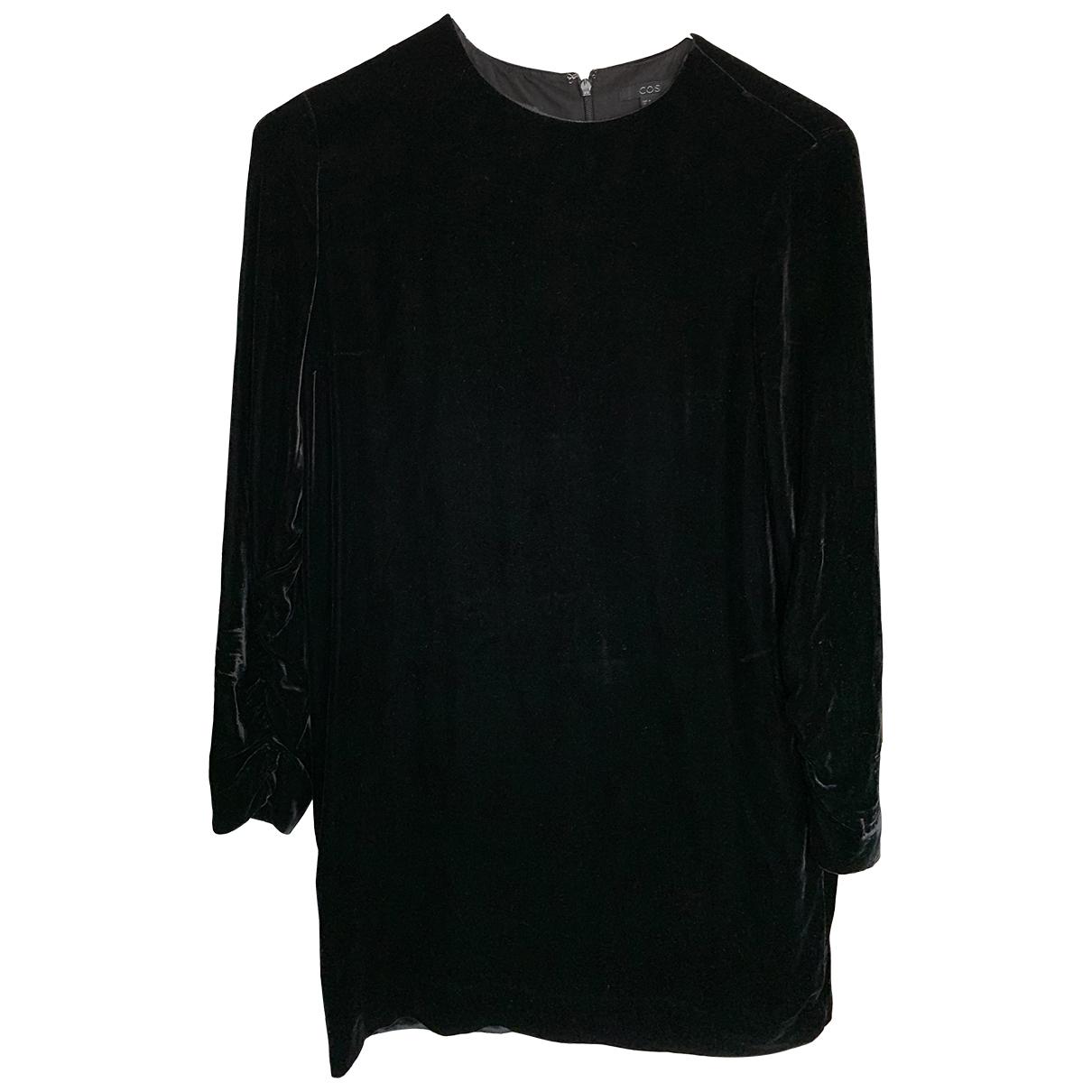 Cos \N Kleid in  Schwarz Samt