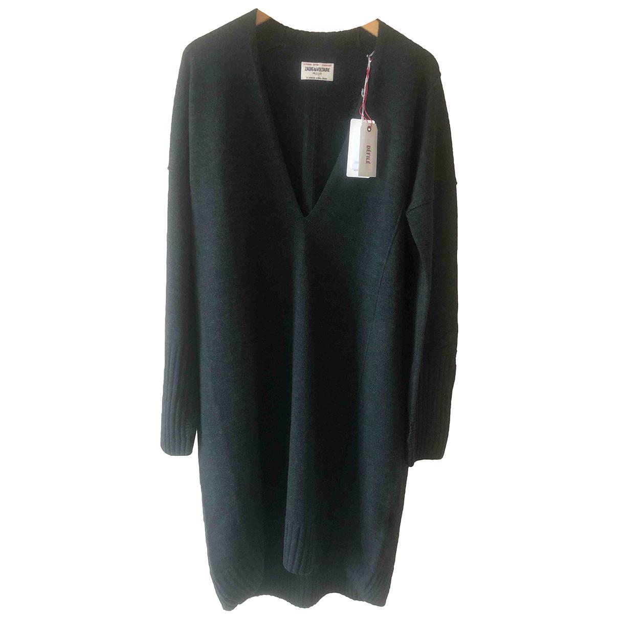 Zadig & Voltaire - Robe   pour femme en laine - kaki
