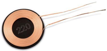 Wurth Elektronik Radial Wireless Charging Receiver Coil, Ferrite Core, 17mm dia., 1.1A, 340mΩ, 20 Q Factor (2)