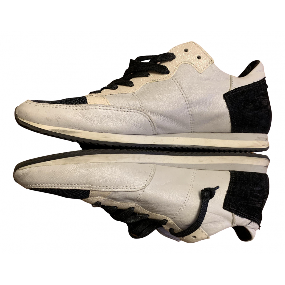 Philippe Model \N White Leather Trainers for Women 39 EU